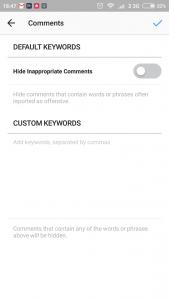 Cara Menyembunyikan Kolom Komentar Di Instagram